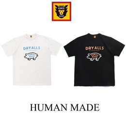 pattern men half shirts Canada - Summer new humanmade short sleeve T-shirt cute pig pattern men's and women loose shoulder slub cotton half sleeve
