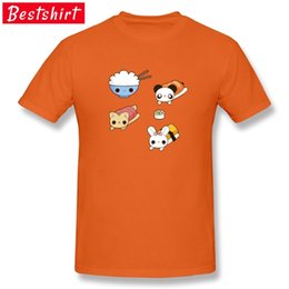 men t shirts 3d graphics 2021 - Orange T Shirts Kawaii Sushi Panda Cat Rabbit Rice Women Men Styling 3D Print T-Shirts Cute Graphic Tee Shirt Cartoon Tops 210420