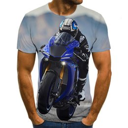 motorbike shirts Canada - 2021 New Racer Graphic 3d Punk Style Zomer Mode Tops Motorbike T-shirt Men Plus Size Streetwear