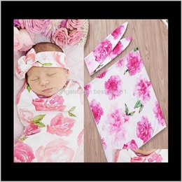 Swaddling Muslin Swaddle Wrap Blanket Wraps Blankets Nursery Bedding Towelling Baby Infant Flowers Wrapped Cloth With Headband 15069 4 Xhzae on Sale