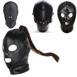 Discount mans sextoys Party Mask 4 Styles Sextoys Bondage Cosplay Slave Penalties Headgear Masks Exotic Clothing Sex Products Bdsm Fetish Cape