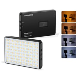 Wholesale Sesenpro Waterproof LED Video fill light Flash Kit with Bluetooth shutter handle Portable Hand-Held Photography Two-Color Camera Lighting