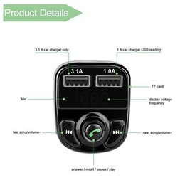 Wholesale X8 FM Transmitter Aux Modulator Bluetooth Handsfree Car Kit Car Audio MP3 Player with 3.1A Quick Charge Dual USB Car Charger Acc
