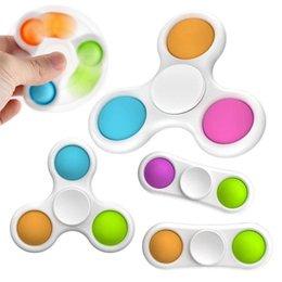 Детские сенсорные простые димовые игрушки подарки взрослый ребенок смешной антистрессовый палец спиннер стресс рецидивирующийся толчок пузырь на Распродаже