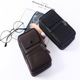 genuine leather fabric wholesale UK - Bag 2021 Belt PU Travel Vintage Packs Waist Loops LKEEP Mobile Phone Men Fanny Pouch New Leather Hip Bum Pack Kddws