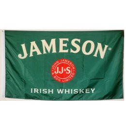 jameson whiskey 2021 - Jameson Irish Whiskey Flags Banners 3X5FT 100D Polyester Hot Design 150x90cm Fast Ship Vivid Color With Two Brass Grommets