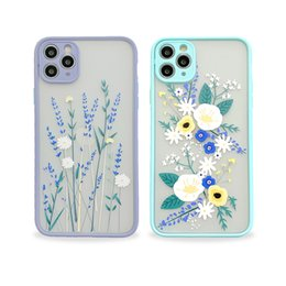 Wholesale cell phone plants resale online - Flowers and Plants Cell Phone Cases for iPhone Pro Max XR XS X Plus Girl Women Print Little Floral Camera Lens Protection Cellphone Cover Conque