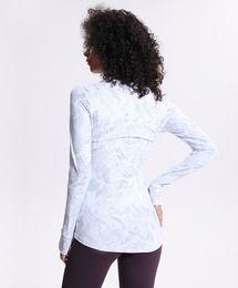 Print Women Yoga Jacket LU-46 Elastic Long Sleeve Gym Sports Coat Fitness Running Clothes Sexy Slim atheltics clothing on Sale
