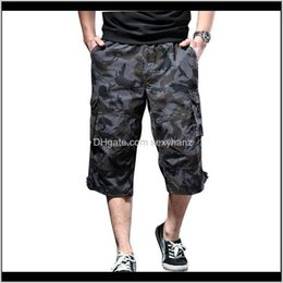 camo sweatpants 2021 - Clothing Apparel Drop Delivery 2021 Summer Mens Baggy Multi Pocket Camo Shorts Male Camouflage Breathable Loose Short Sweatpants Plus Size 6X