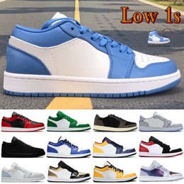 Wholesale jordan 7 for sale - Group buy Mens Low s basketball shoes UNC hyper royal pine green Paris laser orange triple white men sneakers women trainers US