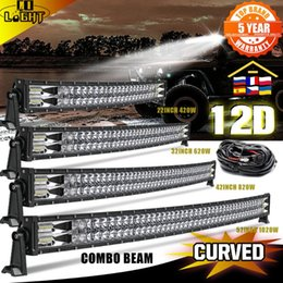"led light bar utv Australia - Working Light 12D 2-Row Led Bar 42"" 820W Spot Flood Beam 90000LM For Offroad ATV UTV UAZ Car Driving Work 12V 24V"
