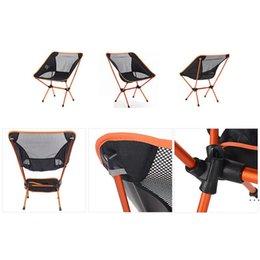 Vente en gros Chaise de plage pliante en plein air Tourisme Camping Pêche Chaise Portable Plage Randonnée Pique-nique Siège de pique-nique Haute Intensité Aviation Alliage Alliage HWD6090