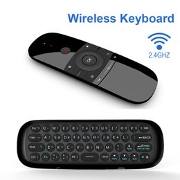 Wholesale Fly Air Mouse Smart Home TV W1 Wireless Keyboard Bluetooth Android IR Remote Control Air Mouse For Android Box PC TV