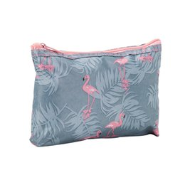 wholesale designer purse bag NZ - Wholesale Collapsible Travel Wash Bags Multifunction Waterproof Storage Bags Zipper Print Cosmetic Bags Canvas Portable Purse BC BH0529