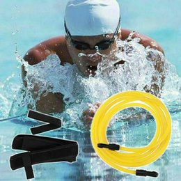 Wholesale Pool & Accessories 4# 4m Swim Training Belts Leash Swimming Tether Stationary Harness Static Bungee Cords Resistance Bands Professional