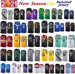 Toptan satış Erkekler Basketbol Jersey S-6XL 3 Davis 4 Rose 0 Lillard 15 JOKIC 30 Köri 21 Embiid 22 Butler 2 Ball 7 Durant 13 Harden 1 Booker 12 Ahlaki Takımlar Palyer 20-21 Sezon Şehir Formaları