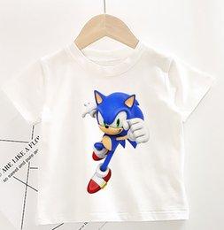 Enfants Garçons SONIC THE HEDGEHOG 3D T-shirt à manches courtes Tee Tops Casual Jeu Cadeau