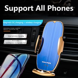 iphone 5s car charger holder Canada - Original 15W Car Wireless Charger Mobile Phone Stand Multi-functional Car Phone Holder Intelligent Infrared Sensor Automatic For iPhone 11 X Max