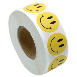 500 adet Gülen Yüz Sopa-On Label Kağıt Kendinden Yapışkanlı Sticker Mühür Etiket Şeker Kutusu Dekor Pişirme DIY Çiçek Ambalaj Scrapbooking