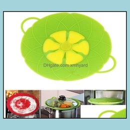 Wholesale Kitchen, Dining Bar Home & Gardenboil Spill Stopper Sile Lid Er Cooking Pot Lids Utensil Pan Cookware Parts Kitchen Aessories Drop Delivery