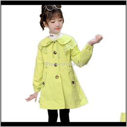 Wholesale trench coat green color for sale - Group buy Baby Clothing Baby Maternity Drop Delivery Spring Fall Fashion Beautiful Trench Coat Green Pink Red Color Jackets For Yrs Kids Cl