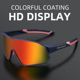 ROCKBROS Outdoor Eyewear Polarized Colorful Sports Light Frame Bike Glasses Driving Fishing Man Woman Cycling Sunglasses