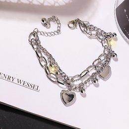 Cool Style Double Chain Bracelet Fashion Advanced Light Luxury Design Personality Trend Unisex Alloy Jewelry A Variety of Styles on Sale