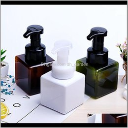 eco friendly shampoo Canada - Storage Bottles Jars 250Ml Square Hand Soap Pump Bottle Foamer Dispenser Lotion Facial Cleanser Shampoo Liquid Foaming Containers Iia3 Ospfq
