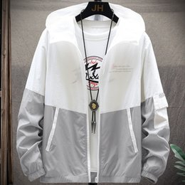silk bats Canada - Jackets Summer Breathable Windbreaker Lightweight Outdoor Fashion Fishing Ice Silk Sunscreen Men's Coat