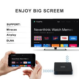 Wholesale Android 10.0 Mecool KH3 Android TV Box 2GB 16GB Allwinner H313 Quad Core 2.4G WiFi 100M LAN HDR 3D Smart TV Box For Home Movies