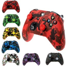 Game Controllers & Joysticks Camouflage Silicone Gamepad Cover + 2 Joystick For Xbox One X S Controller on Sale