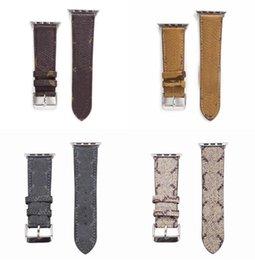 G designer Strap embossed Watchbands 42mm 38mm 40mm 44mm iwatch 2 3 4 5 bands Leather Bracelet Fashion Stripes on Sale