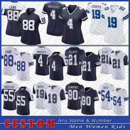 dak prescott football jersey 2021 - 4 Dak Prescott 88 CeeDee Lamb Football Jersey 21 Ezekiel Elliott 19 Amari Cooper 90 Demarcus Lawrence 55 Vander Esch 54 Smith Custom Men Women Kids Dallas