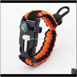 Wholesale Bracelets Military Emergency Paracord Edc Bracelet Multifunction Camping Field Escape Tactics Wrist Strap Wilderness Survival Wfit5 Wpt5Q