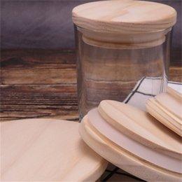 Couvercles de botte en bois de maçon en bois 8 tailles Casquettes de bouteille de bois réutilisables en bois avec bague en silicone bouteille de bouteille d'étanchéité Couvercle de poussière 935 R2 en Solde