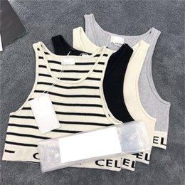 Lato Elastyczne Zbiorniki Damskie Moda List Drukuj Marka Camis Outdoor Oddychający Soft Dotyka Dziewczyny Kamizelki Sportowe