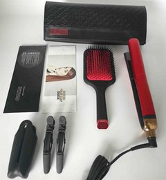 Großhandel Hochwertige Platin + Haarglätter Pinsel Sets Professional Styler flacher Glätter Styling-Werkzeug Rotes Set