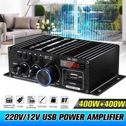 AK380 800W 12V Leistungsverstärker 5.0 Stereo Home Bass O AMP Music Player Bluetooth Car Lautsprecher Klasse D FM USB / SD im Angebot