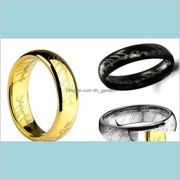 Discount lord rings movies Movie Lord Of Fashion Stainless Steel Finger For Men And Women King E6Nb2 Band Rings Vlfgq