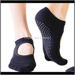 Wholesale mechanic towels resale online - Athletic Outdoor Outdoors Drop Delivery Women Anti Slip Ballet Dancing Towel Buttom Yoga Socks Floor Home Sox Knitted Backless