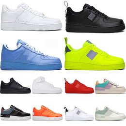Wholesale 2021AirForce1 Mens Shoes Dunk Dunks Triple White Black Shadow Volt Gym RedAirsForcesFitness Sneakers Low Flat Designers Womens Trainers