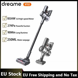 Wholesale EU Stock Dreame V12 Cordless Handheld Wireless Vacuum Cleaner 27KPa Strong Suction 185AW SPACE 5.0 High Speed Motor OLED Display