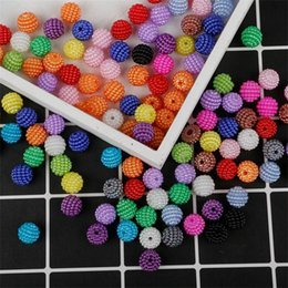 50pcs lot 10mm Acrylic Bayberry Beads Imitation pearls Round Loose Beads Fit Europe Beads For Jewelry Making DIY Accessories 1937 Q2 on Sale