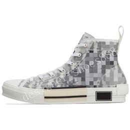 2021 canvas shoes limited edition printed sneakers versatile high top with original packaging shoe box size 35-45 on Sale