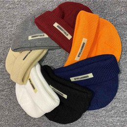 Wholesale Winter Beanie Knitted Hat Cold Skull Cap FOG Fear Of God ESSENTIALS Street Travel Fishing Casual Autumn Warm Outdoor Sport HFHLMZ002