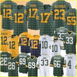 "12 Aaron Rodgers Jones 17 Davante Adams Jersey Green ""Bay"" Packers ""Jaire Alexander Futebol Jerseys Love Zadarius Smith David Bakhtiari Eric Stokes Savage 4 em Promoção"
