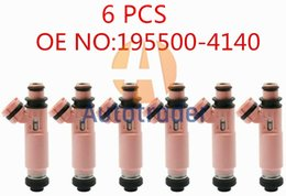 6шт 195500-4140 1955004140 MR507376 Топливные форсунки для топливных форсунок для Mitsubishi Pajero Sport 6G72 3.0 V6 на Распродаже