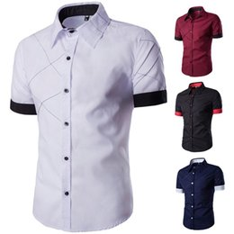 Wholesale shirts large mesh for sale - Group buy Men s Short sleeved Shirt Mesh Pattern Design Casual Colors Large Size M XXXL Shirts
