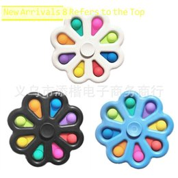 7.5CM Fidget Flower Spinner Toys Bubble Poppers Board Sensory Bubbles Pressing Plate Decompression Fingertip Finger Fun Game Desktop Game ADHD Needs H410PHX on Sale