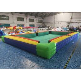 Mesa de fútbol inflable de 8x5m de 8x5m / mesa de billar gigante de snooker para adultos / juego de billar inflable en venta